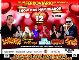 CLUBE FERROVIÁRIO DE AFOGADOS - SHOW DOS NAMORADOS.