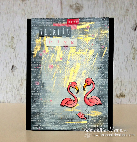 Tickled Pink Flamingo Card by Samantha Mann | Flirty Flamingos Stamp set | Newton's Nook Designs