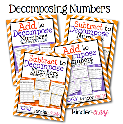 Decomposing Numbers Activity Sets, $1.50