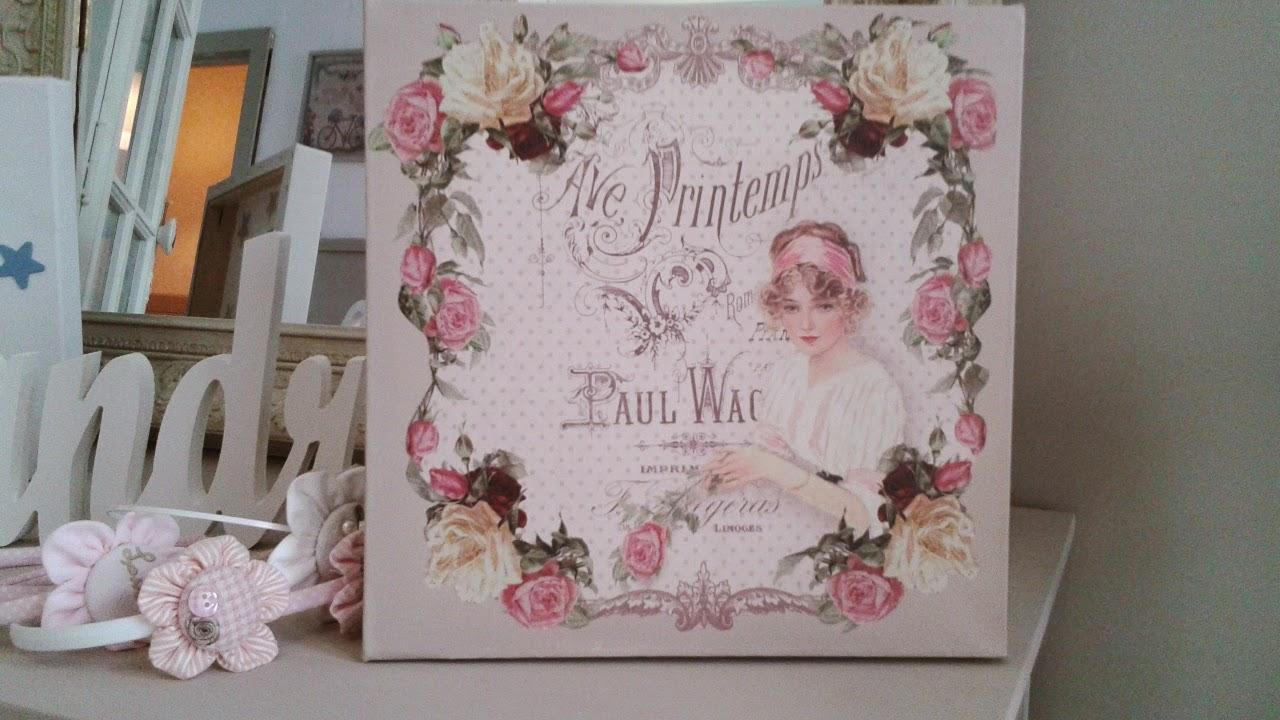 El taller de cayetana cuadro vintage rosas - Muebles tipo vintage ...