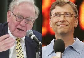 Buffet and Gates Billionaire philanthropists!