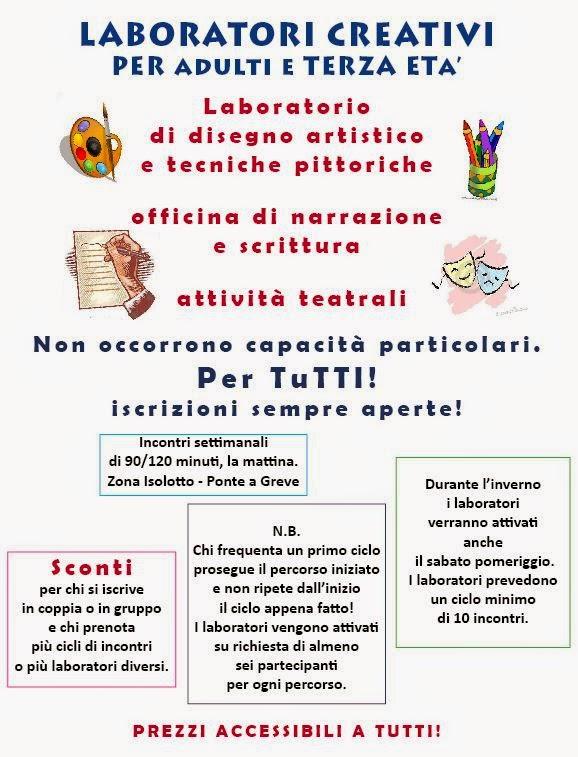 Laboratori creativi per adulti e terza età