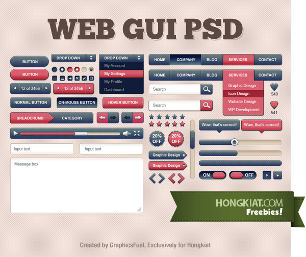 60 Free GUI Sets for Your Next Project