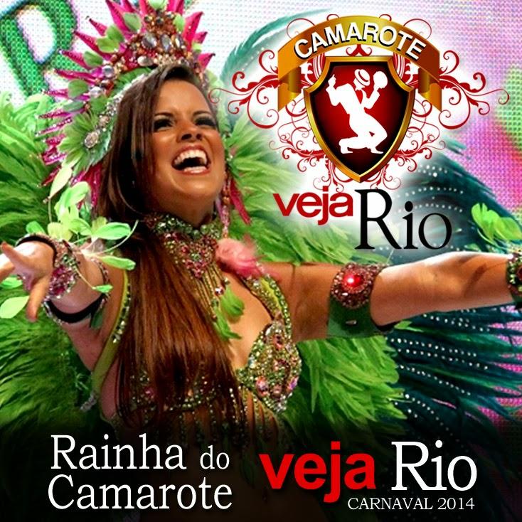 Renata Santos é a Rainha do Camarote Veja Rio 2014.