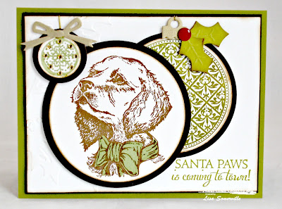 Stamps - North Coast Creations Santa Paws,ODBD Custom Circle Dies, ODBD Vintage Pattern Ornaments