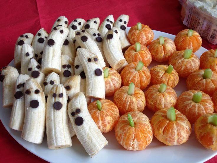 http://weelicious.com/2013/10/14/tangerine-pumpkins-banana-ghosts-fruity-halloween/
