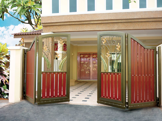 Home interior decorating modern homes main entrance gate for Modern main gate designs