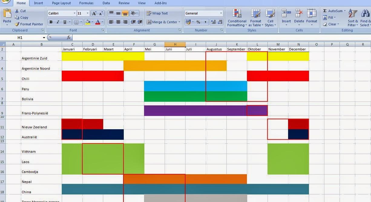 Planning maken met excel youtube autos post for Planning maken