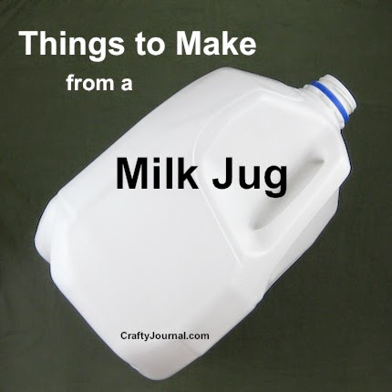Milk Jug Ideas @ Crafty Journal