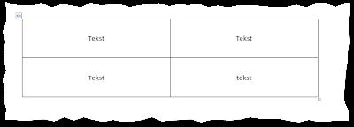 Tabela z widocznymi krawędziami