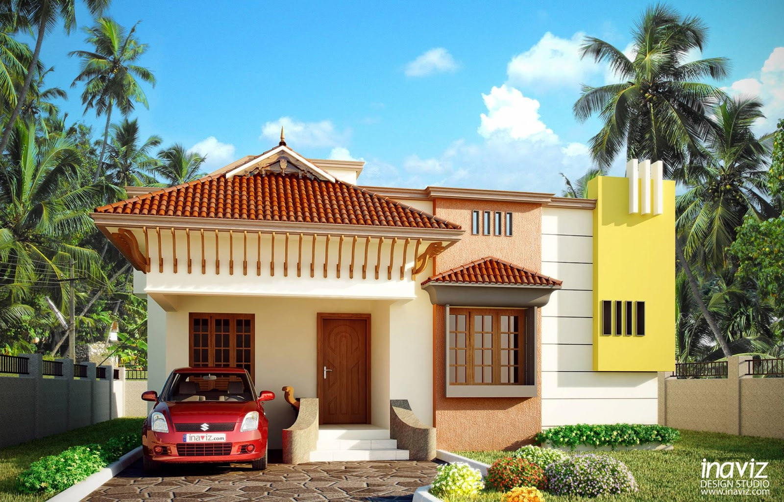 Inaviz design studio small villa at kothamangalam for Small villa plan