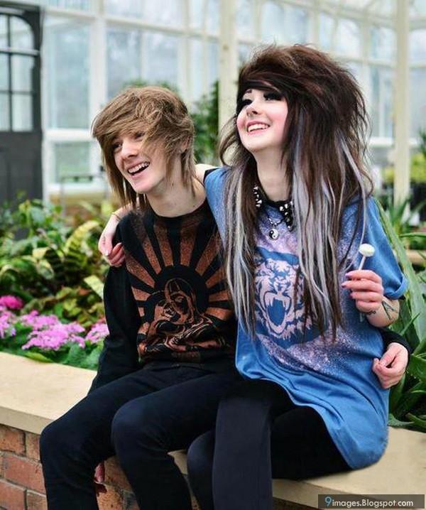 Cute Hug Emo Couple Beautiful Girl Love