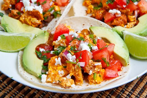 Chorizo Scrambled Eggs Breakfast Tacos