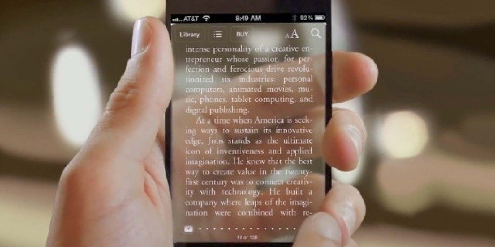 Transparent Texting Technology