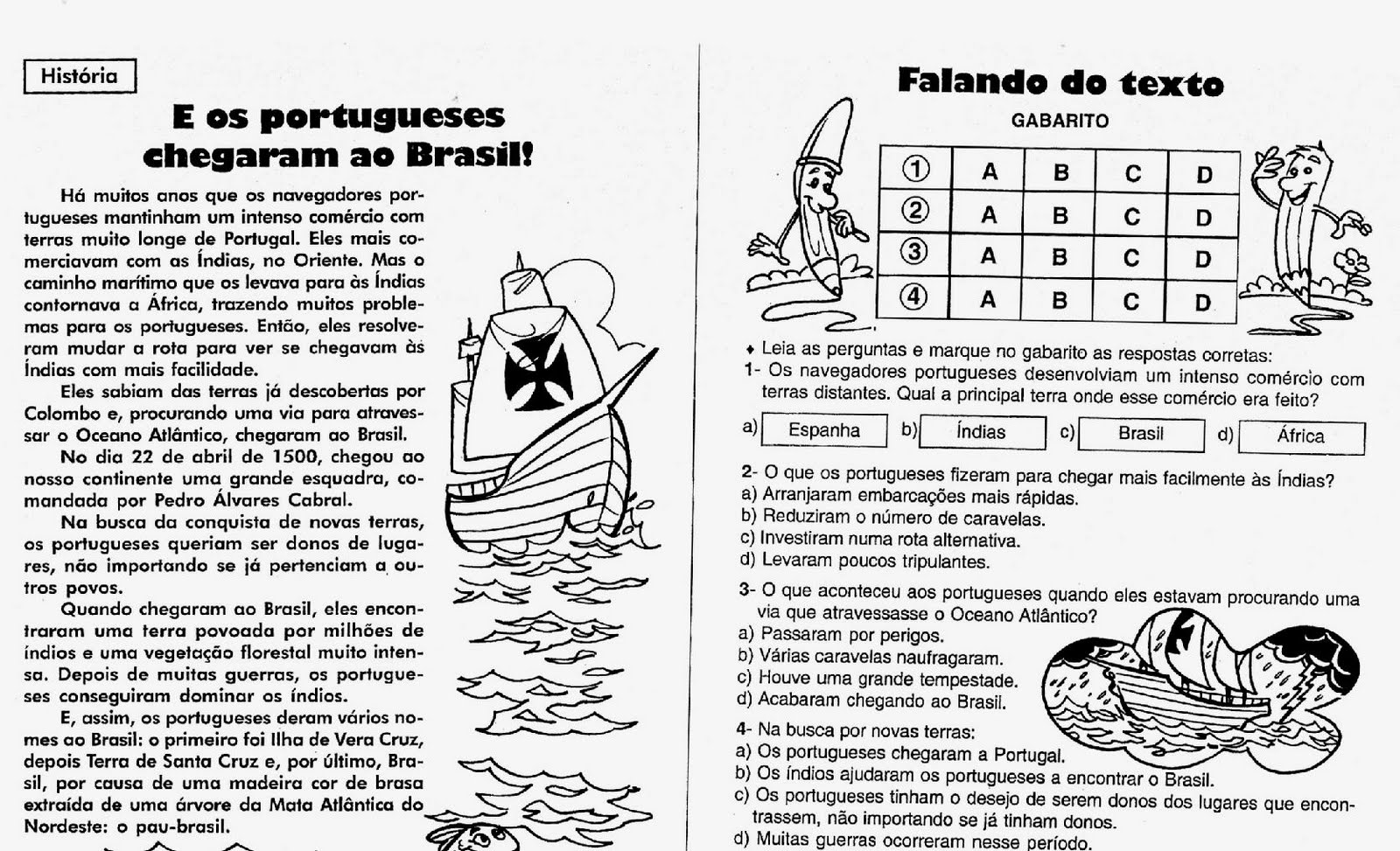 periodo colonial no brasil imagens para colorir