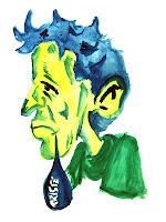 Dibujo hombre llorando