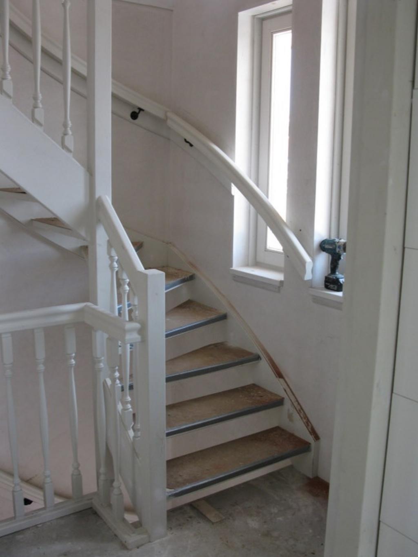 Nummer 6 trap - Witte houten trap ...