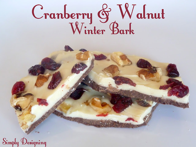 Cranberry and Walnut Winter Bark | Simply Designing