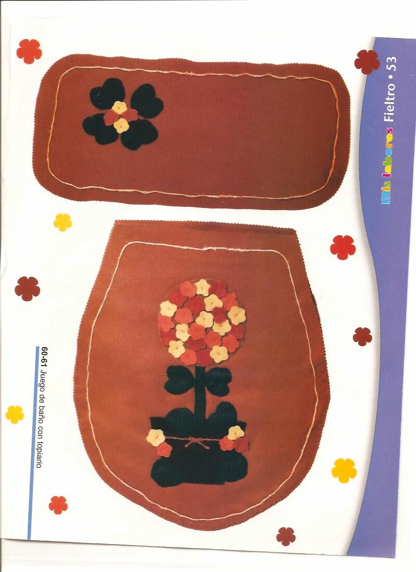 juegos de baño en fieltro - revistas de manualidades gratis - Juegos De Bano De Fieltro Para Primavera