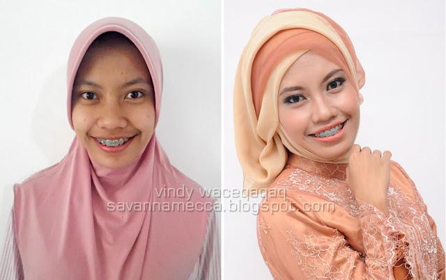 Ini Vindy Yang Ajaib: Before after : Engagement Makeup