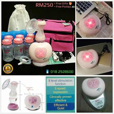 MALISH Pinky Lifestyle Micro-computer Electric Battery Powerbank Usb Breast Pump Single Snowbear Pinky Lacte Solo Autumnz