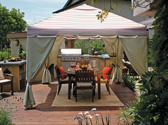Garden And Patio Canopies With Quick Assembly