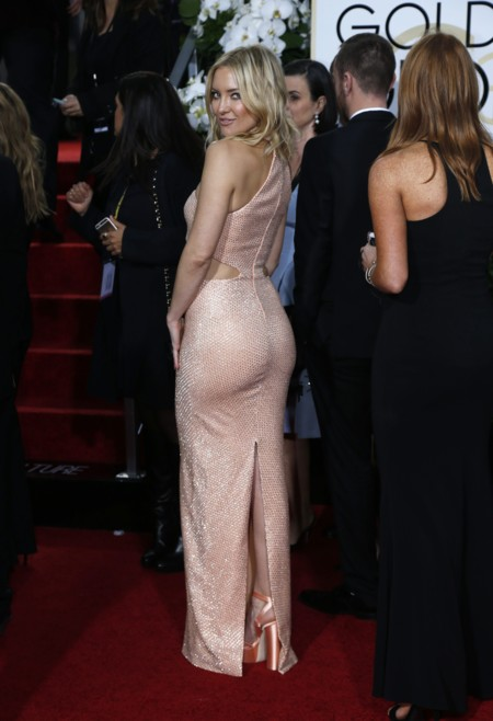 Kate Hudson vestida de Michael Kors espalda en los Golden Globes, enero 2016