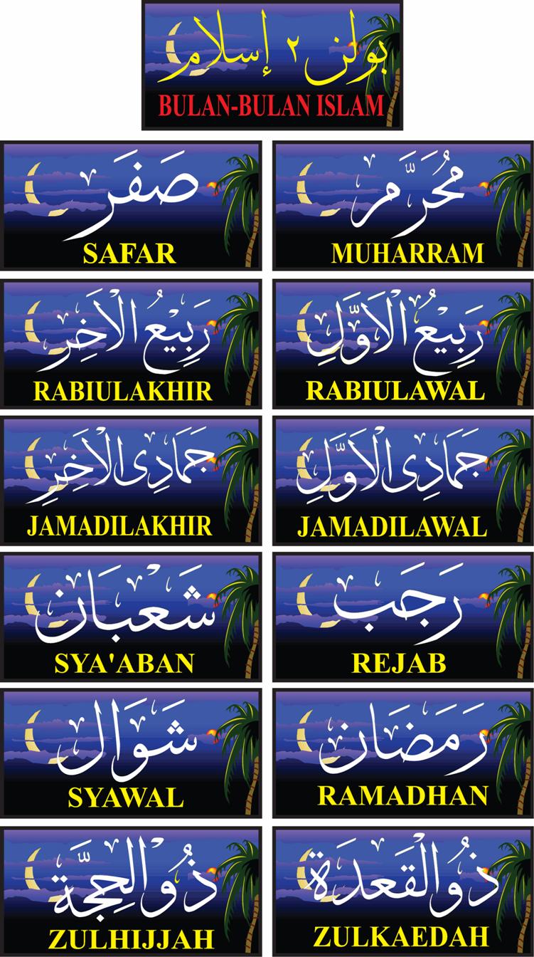 Kau Ilhamku◕‿◕ Tips Mudah Mengingati Bulan Bulan Islam