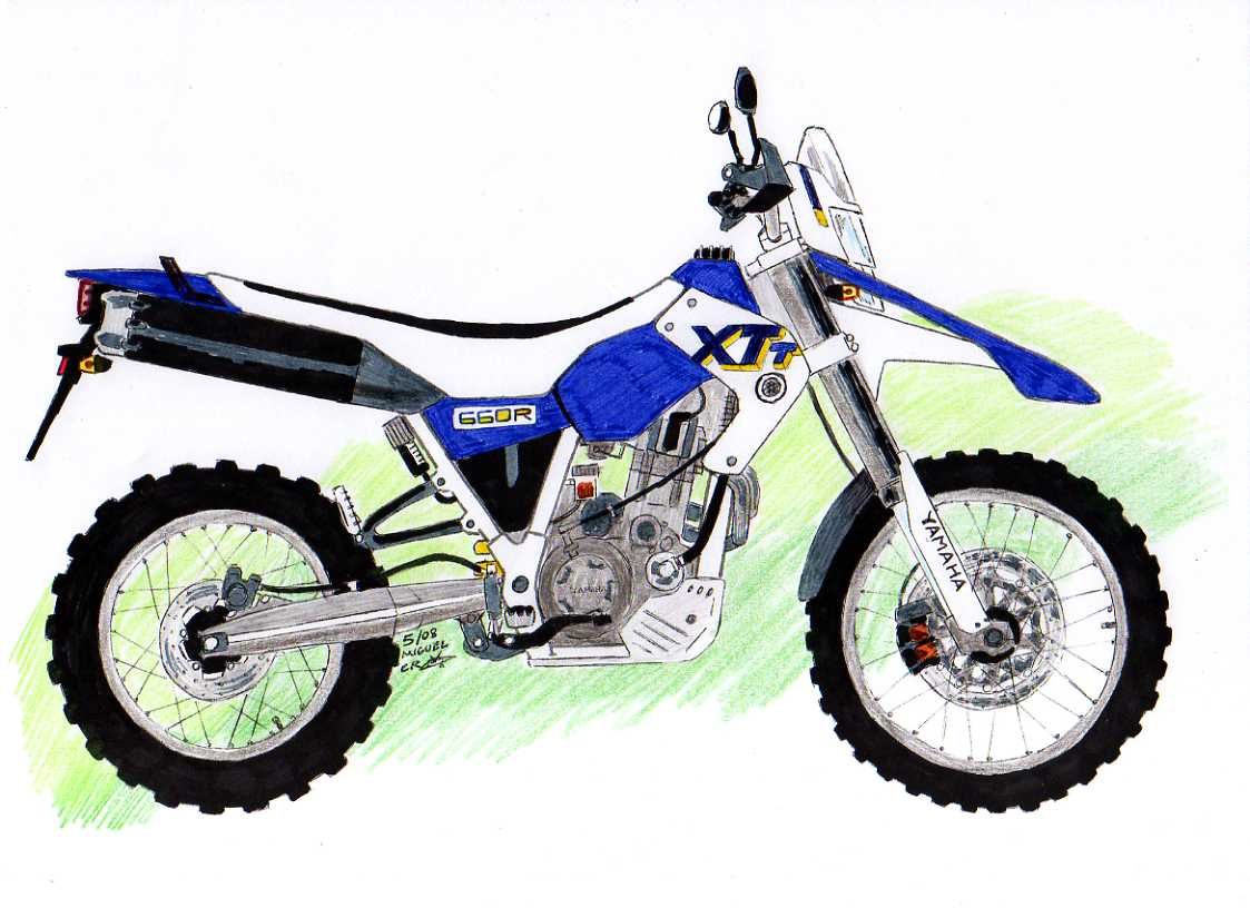 Dibujo moto enduro  Imagui