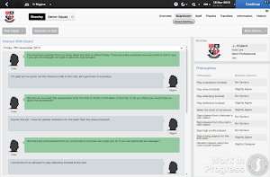 FM14 Board interaction job interview