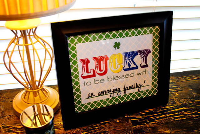 Free St. Patty's Day LUCKY Dry Erase #Printable