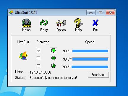 Cambiar el IP de mi navegación - ¡UltraSurf!