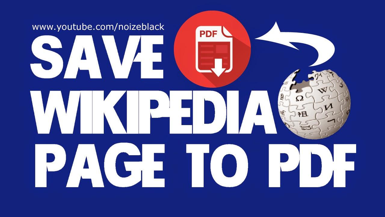 Cara Save Halaman Wikipedia Ke PDF Dengan Tampilan Rapi