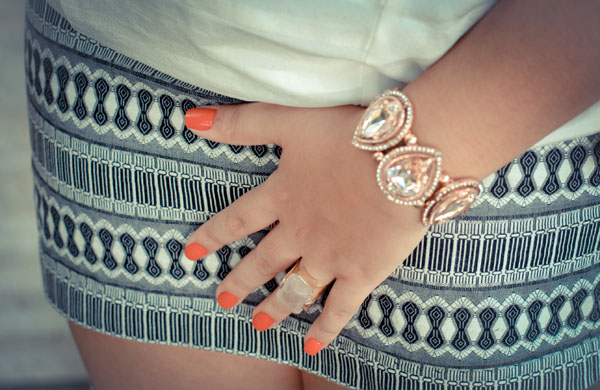 bracelete - metalizado ouro rosé