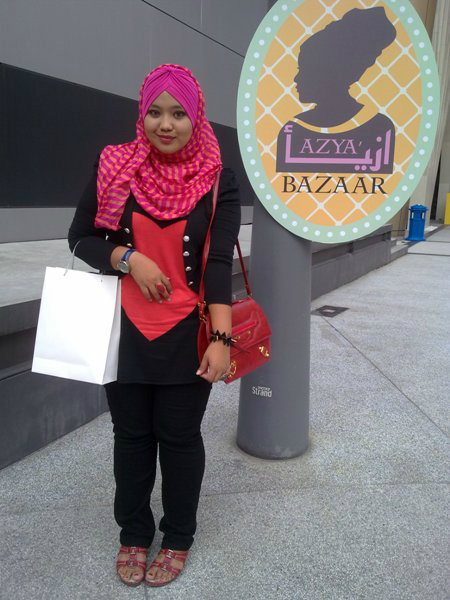 Urban Hijab Fashion at Azyaa Bazaar