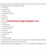 Maya Lyess Resources Kerja Kosong