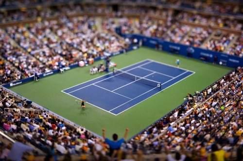 Quadra de tênis - efeito tilt shift