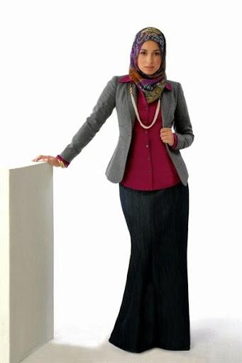 12 Model Pakaian Hijab Muslimah Kantoran Modern Terbaru 2017/2018