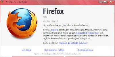 mozilla firefox 9.0
