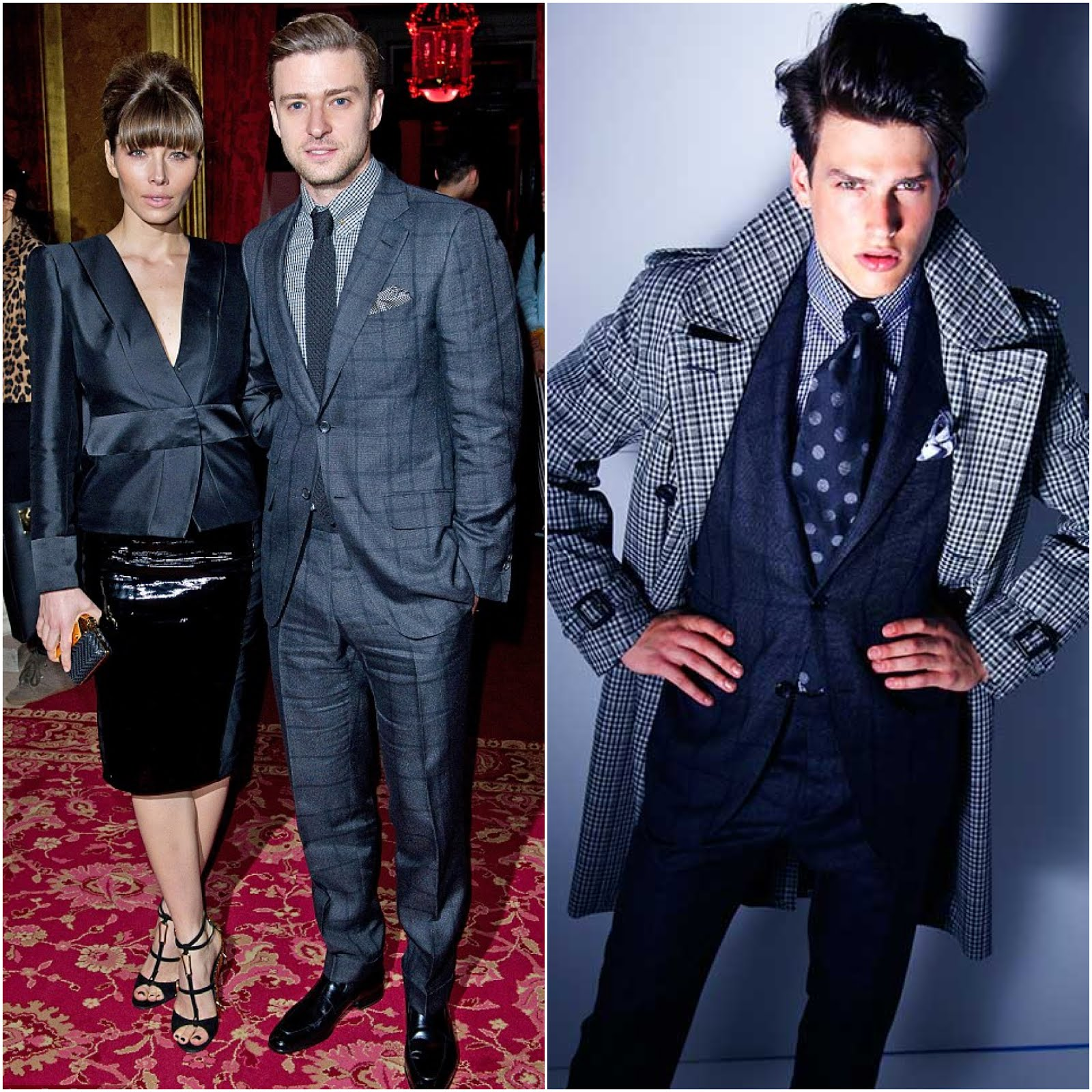 00O00 Menswear Blog Justin Timberlake and Jessica Biel in Tom Ford at Tom Ford Fall Winter 2013, London Fashion Week