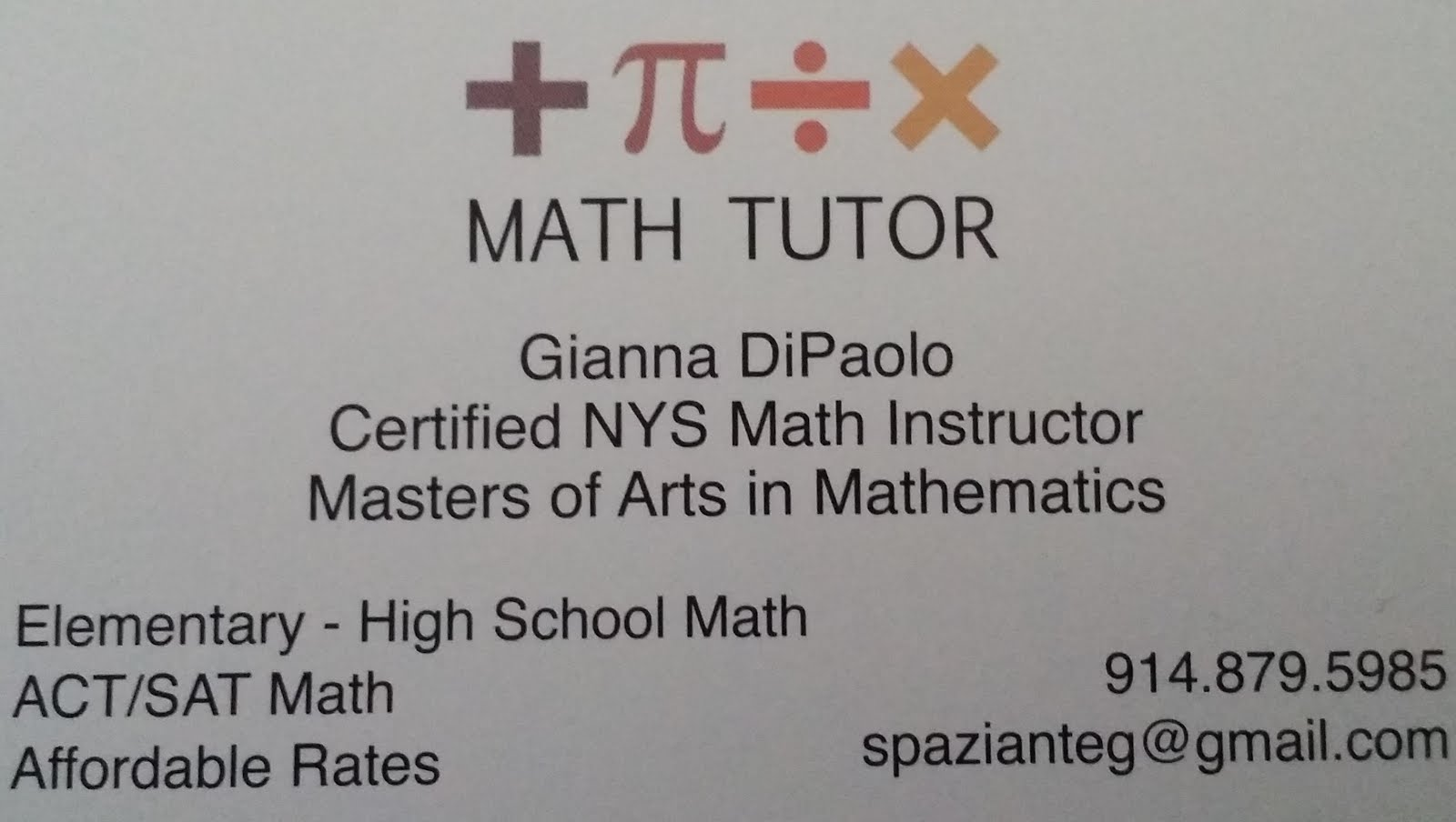 Great Math Tutor!