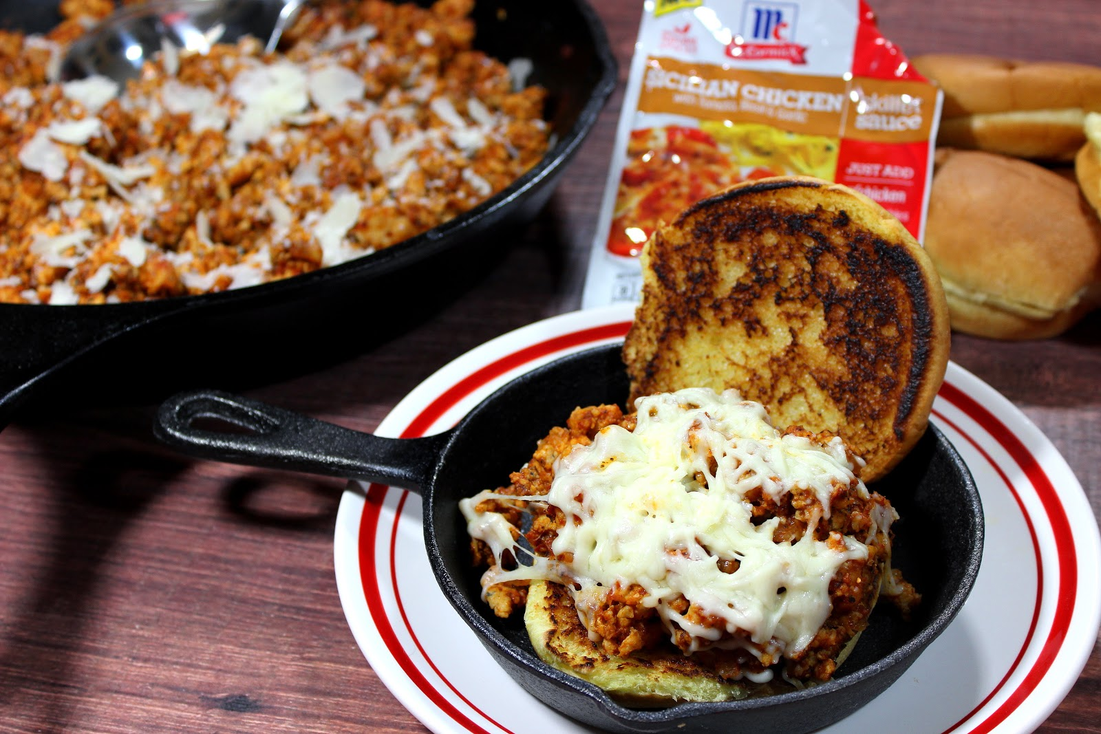 Sloppy Skillet Chicken Parmesan has all of the flavor you love of traditional chicken Parmesan, but with none of the fuss. And it's ready in a fraction of the time.