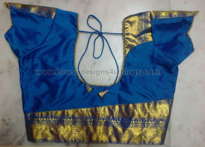 Patch Work In Blouse Neck Designs, Patch Work In Blouse