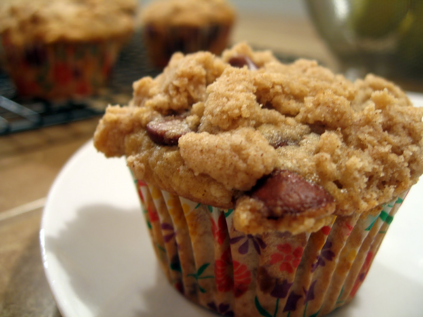 the nonpareil baker: Banana Chocolate Chip Muffins with Cinnamon Crumb ...