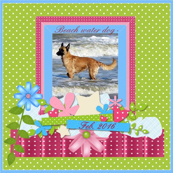 Color challenge March.2016 - Beach water dog