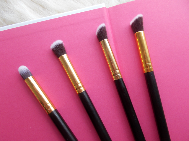 makeup brush collection xcsource amazon 10 piece black and gold