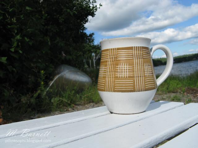 60's Denby accent mug