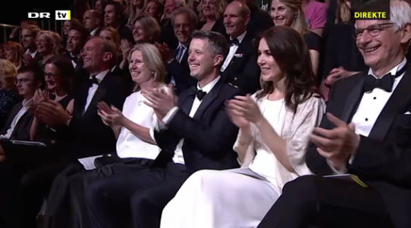 Crown Prince Frederick and Crown Princess Mary Attend The Reumert Awards 2015 Ceremony
