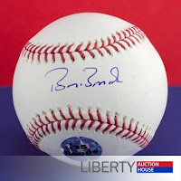 Free Police Auctions - Barry Bonds Autographed Baseball