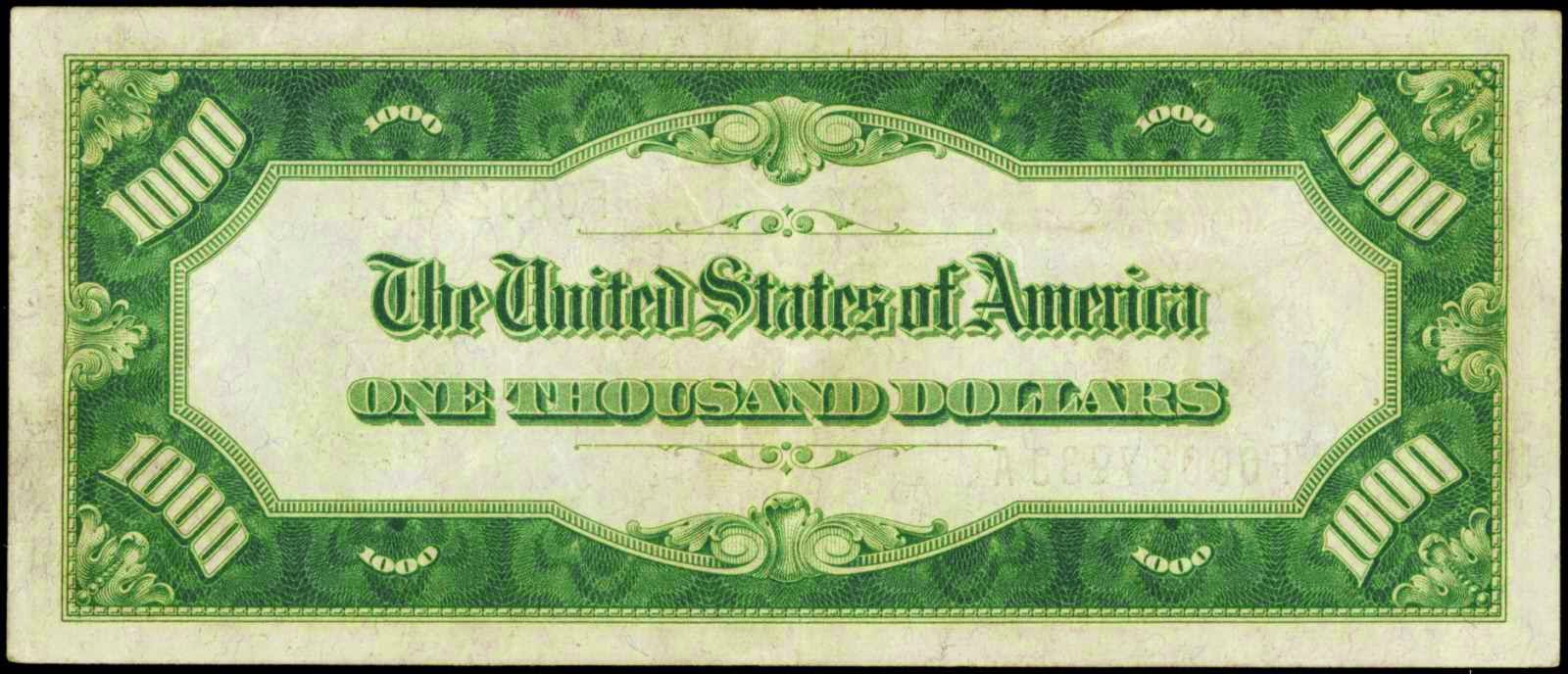 1928 1000 Dollars Federal Reserve Note
